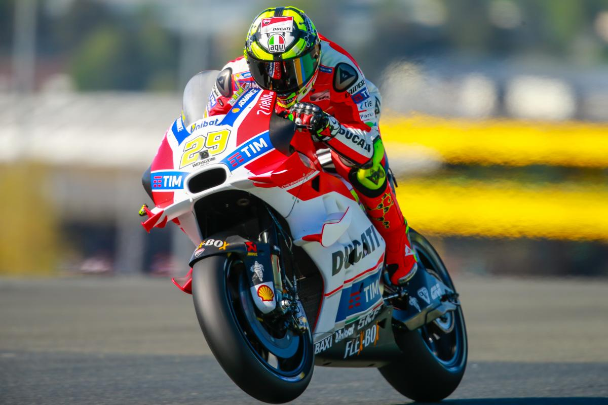 French GP FP3: Iannone Licks wheels