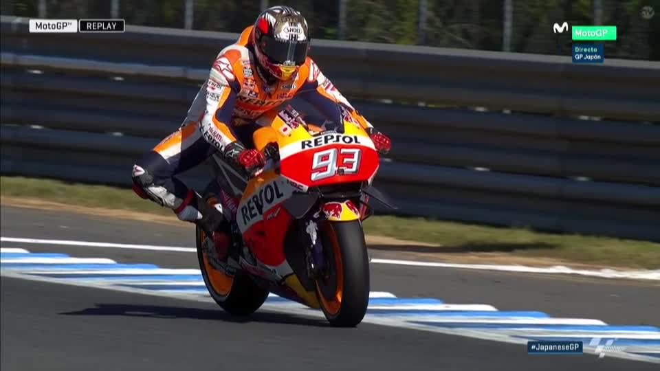 Japan GP FP4: Marquez Hit Again
