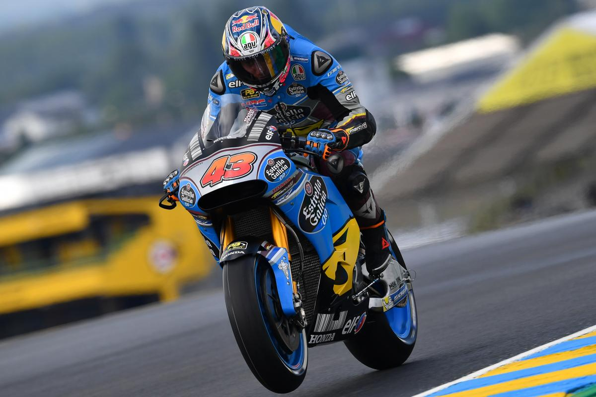 French GP FP1: Wet for Miller