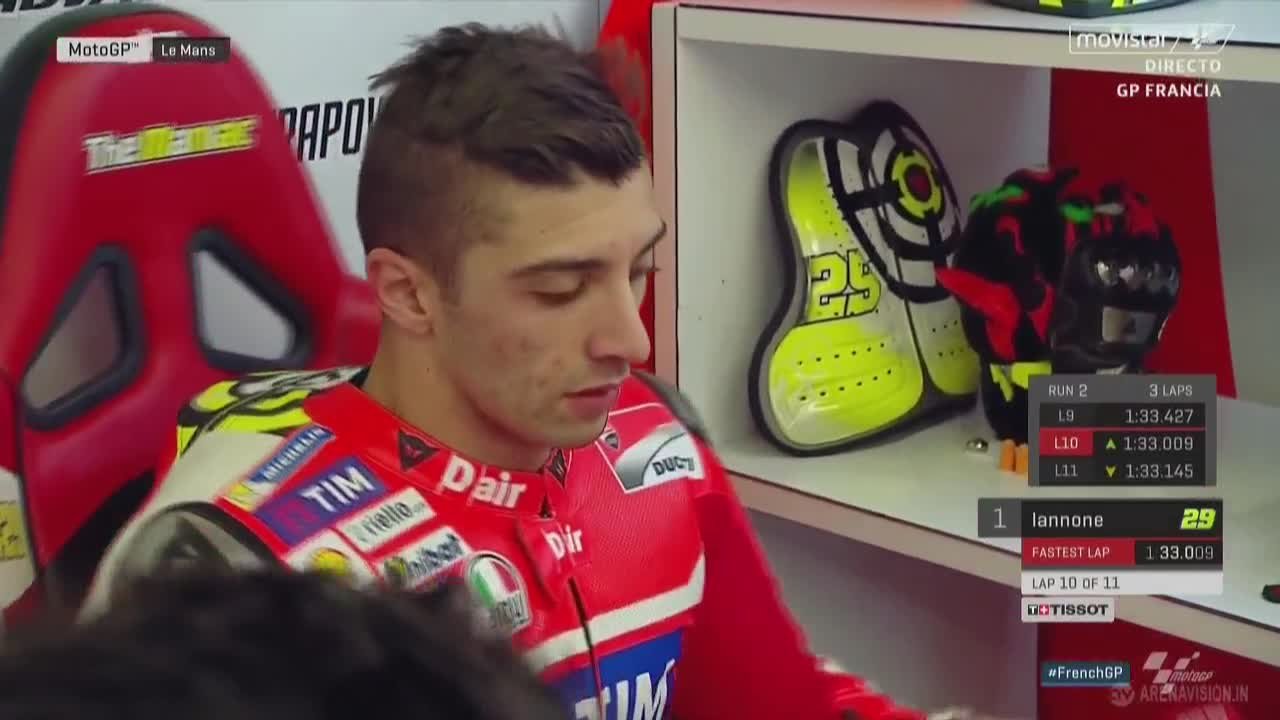 French GP Warmup: Iannone, but Tight