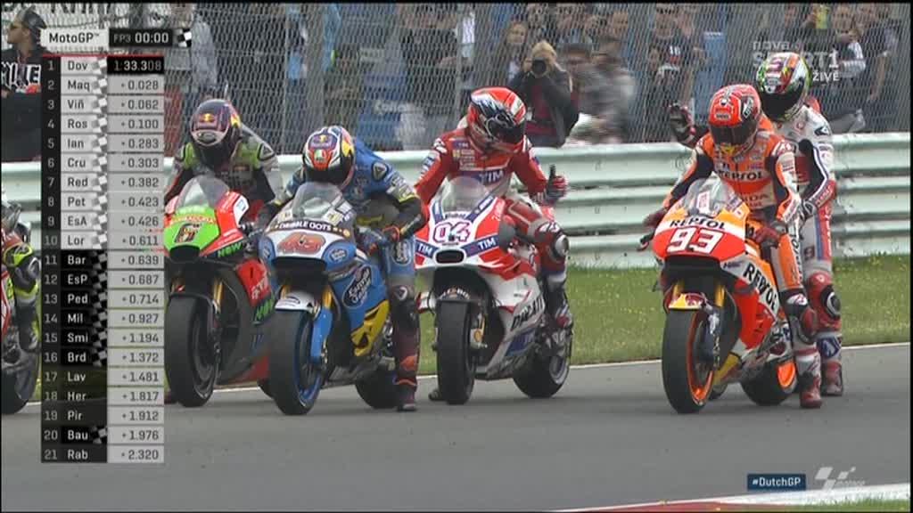 Holland GP FP3: Andrea follows Andrea
