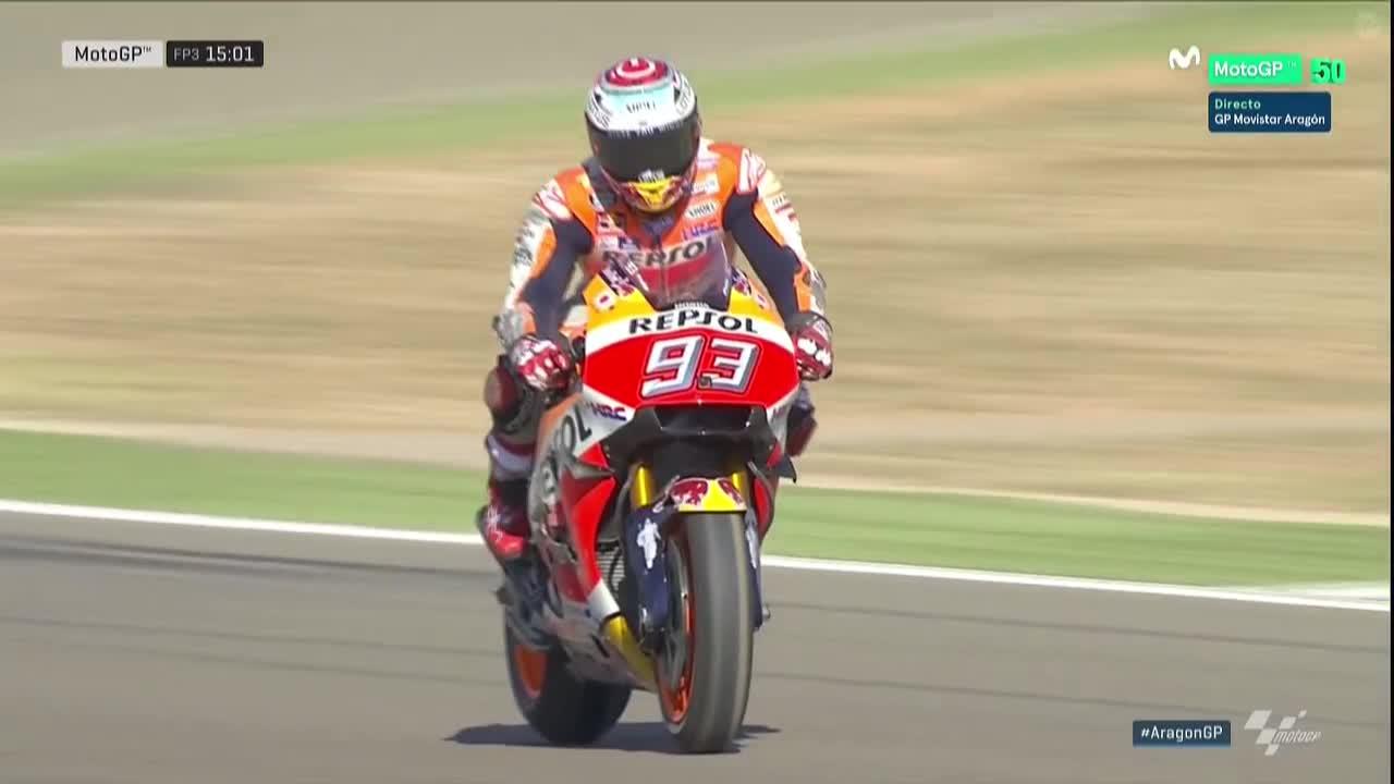 Aragon GP FP3: Marquez Takes it Back
