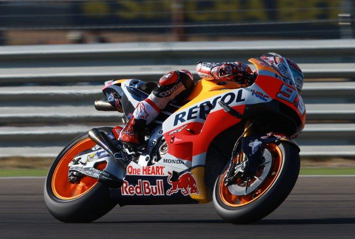 Aragon GP Warmup: Marquez… Marquez…