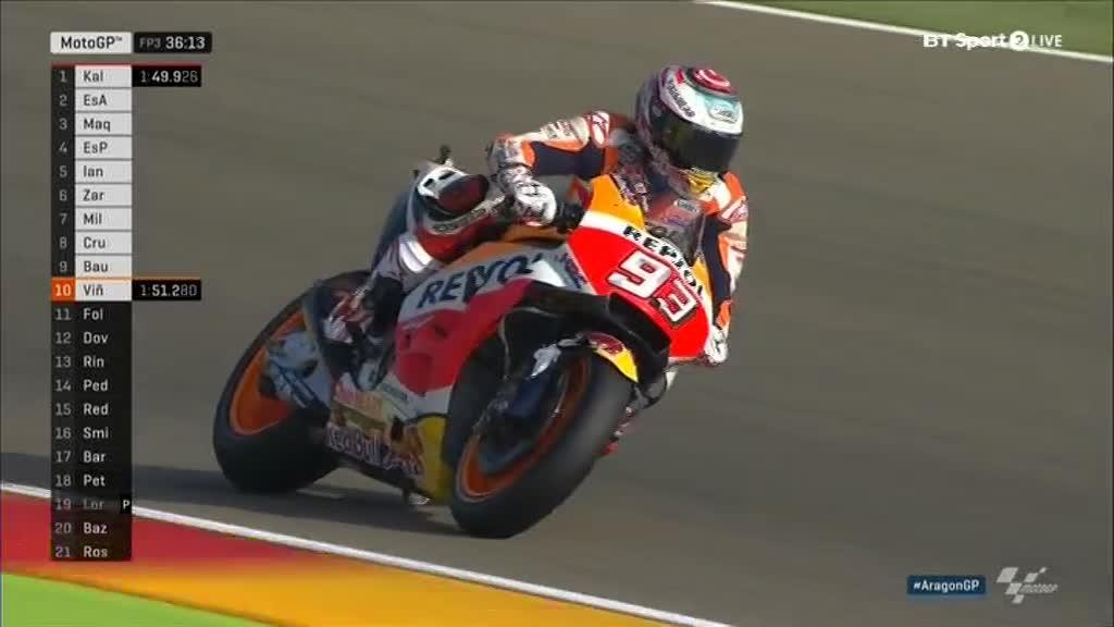 Aragon GP FP3: Marquez Top; Rossi makes it to Q2